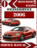 Thumbnail Mitsubishi Eclipse 2006 Digital Service Repair Manual