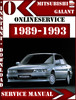 Thumbnail Mitsubishi Galant 1989-1993 Digital Service Repair Manual
