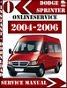 Thumbnail Dodge Sprinter 2004-2006 Service Repair Manual