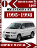 Thumbnail Mitsubishi L400 1995-1998 Service Repair Manual