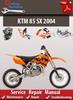Thumbnail KTM 85 SX 2004 online Service Repair Manual