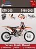 Thumbnail KTM 200 1998-2003 Online Service Repair Manual