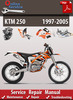 Thumbnail KTM 250 1997-2005 Online Service Repair Manual