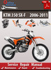 Thumbnail KTM 350 SX-F 2006-2011 Online Service Repair Manual