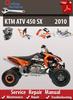 Thumbnail KTM ATV 450 SX 2010 Online Service Repair Manual