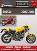 Thumbnail Ducati 800S ie 2000-2006 Online Service Repair Manual