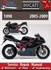 Thumbnail Ducati 1098 2005-2009 Online Service Repair Manual