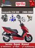 Thumbnail Aprilia Leonardo 250 300 2000-2004 Online Service Manual