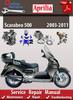 Thumbnail Aprilia Scarabeo 500 2003-2011 Online Service Repair Manual