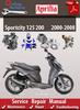 Thumbnail Aprilia Sportcity 125 200 2000-2008 Online Service Manual