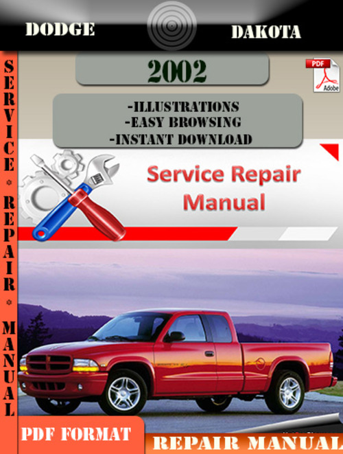 dodge dakota 2002 factory service repair manual pdf zip download rh tradebit com 2003 dakota service manual dodge dakota service manual pdf