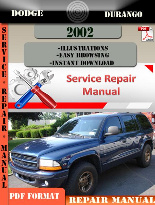 Dodge Durango 2002 Factory Service Repair Manual Pdf Zip