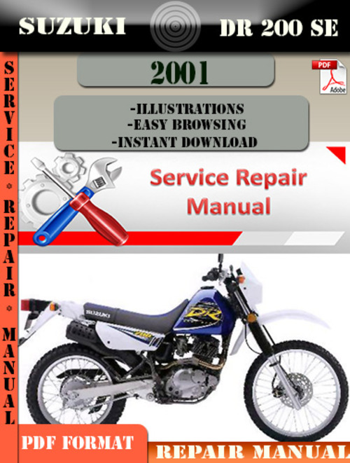 suzuki dr 200 se 2001 digital service repair manual download manu rh tradebit com 1980 Suzuki GS 250 T Repair Manual 1989 Suzuki GS500E