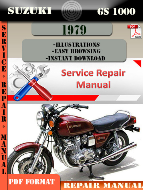 suzuki gs 1000 1979 digital factory service repair manual. Black Bedroom Furniture Sets. Home Design Ideas