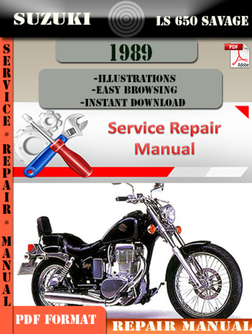suzuki ls 650 savage 1989 digital service repair manual download rh tradebit com 2000 Suzuki Savage Bobber 2000 Suzuki Savage Bobber