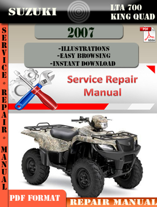 Suzuki Lta 700 King Quad 2007 Digital Service Repair
