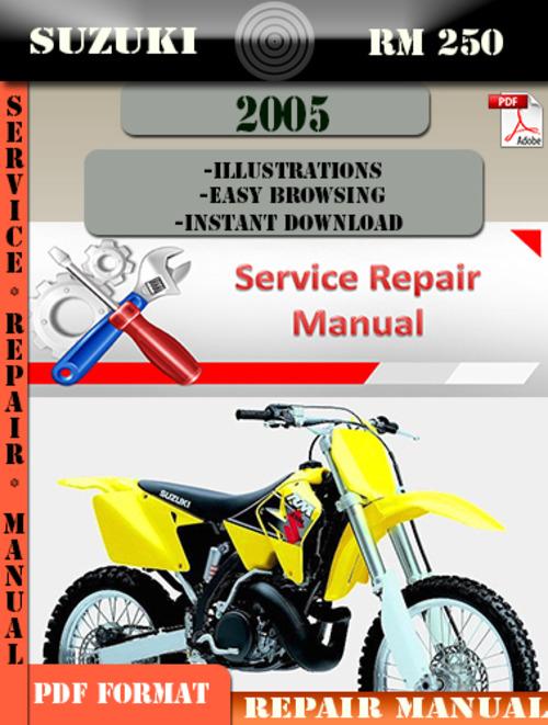 suzuki rm 250 2005 digital factory service repair manual. Black Bedroom Furniture Sets. Home Design Ideas