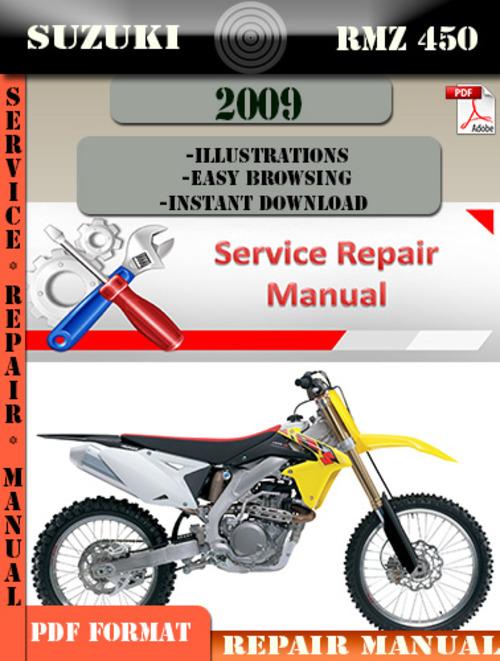suzuki rmz 450 2009 digital factory service repair manual downloa rh tradebit com 2013 rmz 450 service manual pdf 2013 rmz450 service manual pdf