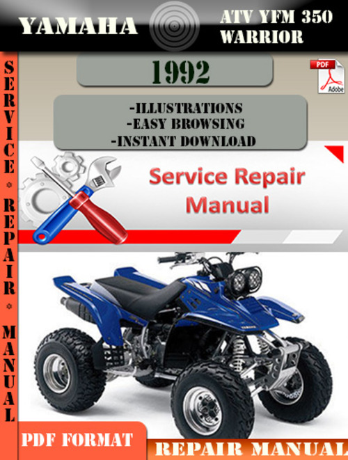 yamaha atv yfm 350 warrior 1992 digital service repair. Black Bedroom Furniture Sets. Home Design Ideas