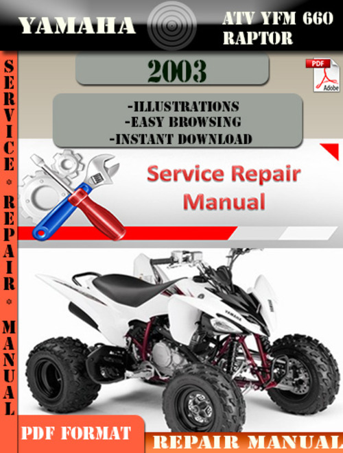 yamaha atv yfm 660 raptor 2003 digital service repair. Black Bedroom Furniture Sets. Home Design Ideas