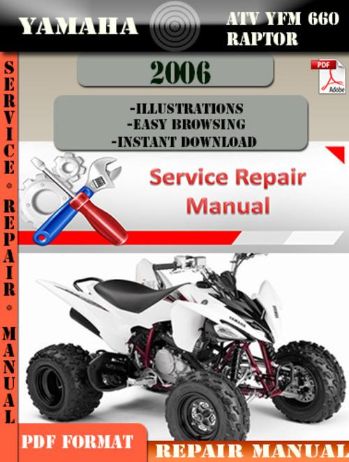 Yamaha atv yfm 660 raptor 2006 digital service repair for 2006 yamaha raptor 660