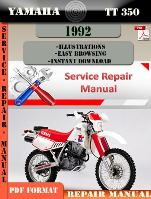 yamaha tt350 1992 digital factory service repair manual. Black Bedroom Furniture Sets. Home Design Ideas