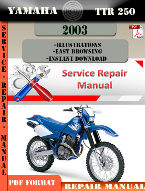 yamaha ttr250 2003 digital factory service repair manual. Black Bedroom Furniture Sets. Home Design Ideas