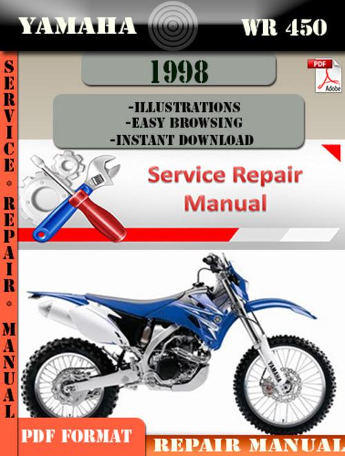 yamaha wr450 1998 digital service repair manual download. Black Bedroom Furniture Sets. Home Design Ideas