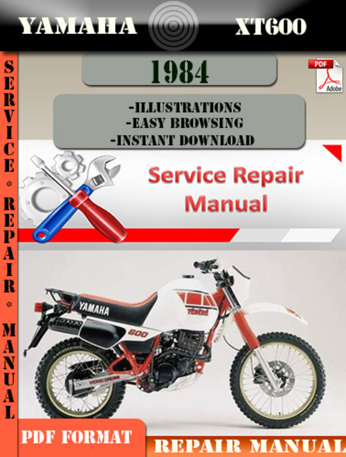yamaha xt600 1984 digital service repair manual download. Black Bedroom Furniture Sets. Home Design Ideas