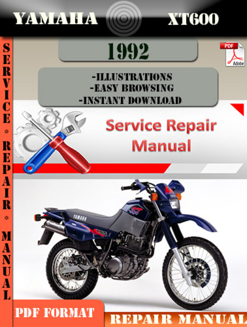 yamaha xt600 1992 digital service repair manual manual. Black Bedroom Furniture Sets. Home Design Ideas