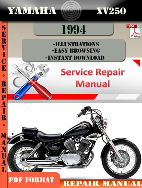 yamaha xv250 1994 digital service repair manual download. Black Bedroom Furniture Sets. Home Design Ideas