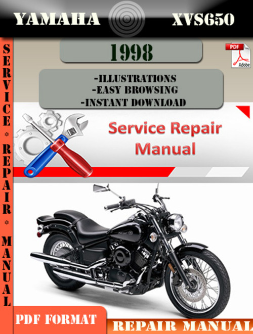 yamaha xvs650 1998 digital service repair manual. Black Bedroom Furniture Sets. Home Design Ideas