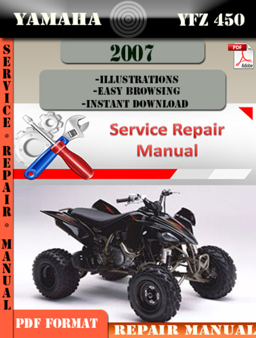 yamaha yfz 450 2007 digital service repair manual download manual rh tradebit com 2008 yfz450 service manual pdf 2006 yfz 450 service manual
