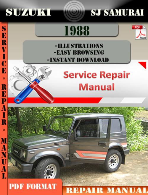 service manual pdf 1988 suzuki sj transmission service