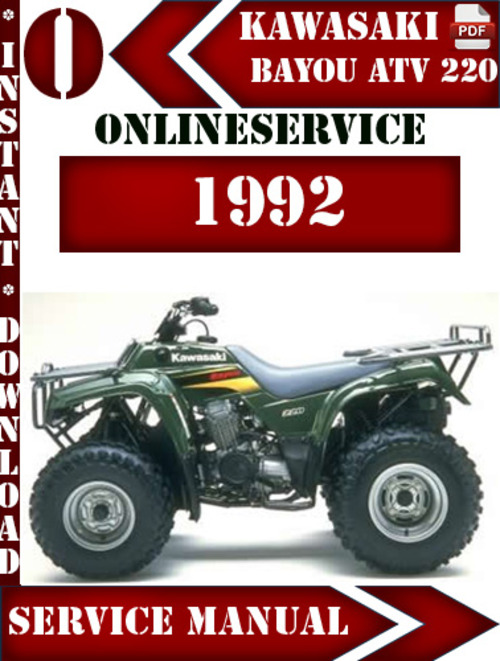 Pay for Kawasaki ATV 220 1992 Digital Service Repair Manual
