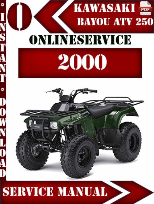 Kawasaki Atv 250 Bayou 2000 Digital Service Repair Manual