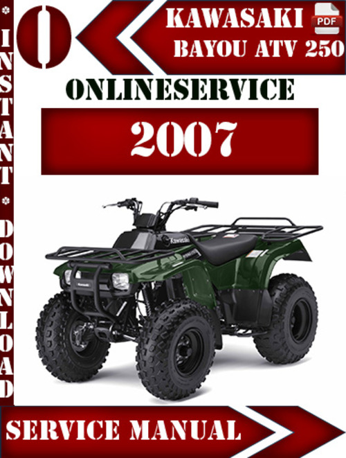 Free Kawasaki Klf220 Bayou 220 Atv Full Service Amp Repair