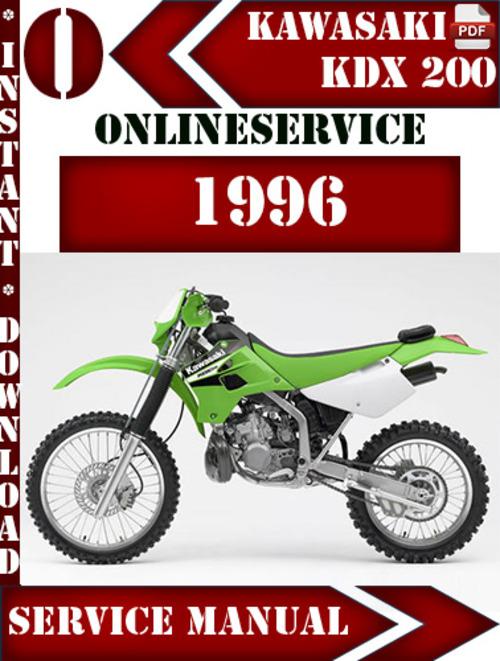 kawasaki kdx 200 1996 digital service repair manual download manu rh tradebit com 1992 kdx 200 service manual kawasaki kdx 200 service manual free download