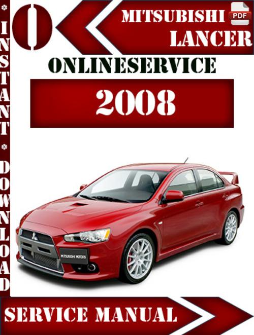 Free Mitsubishi Lancer 2008 Digital Service Repair Manual Download thumbnail