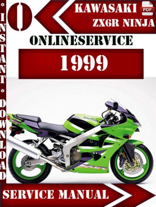 Kawasaki Zx6r Ninja 1999 Digital Service Repair Manual Download M