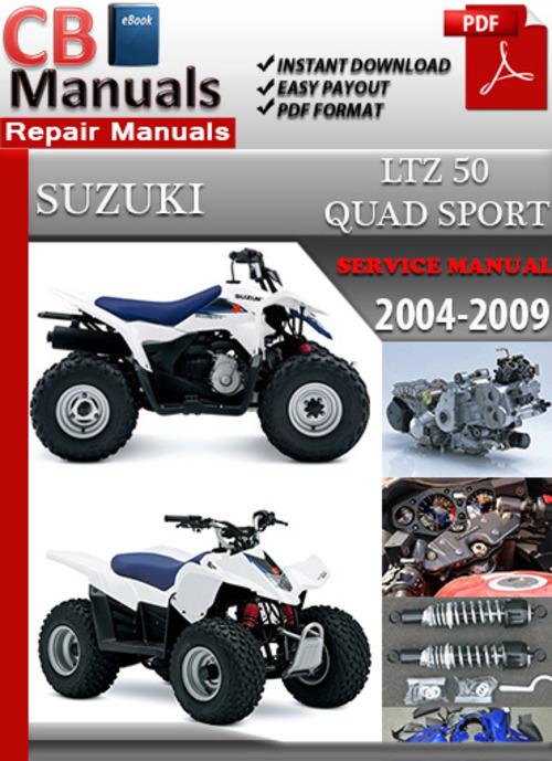 suzuki ltz 50 quad sport 2004 2009 online service manual download rh tradebit com suzuki ltz 50 service manual free Suzuki QuadSport 50 Manual