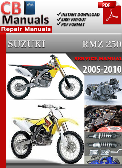 suzuki rmz 250 2005 2010 online service repair manual download ma rh tradebit com suzuki rmz 250 service manual suzuki rmz 250 service manual 2013
