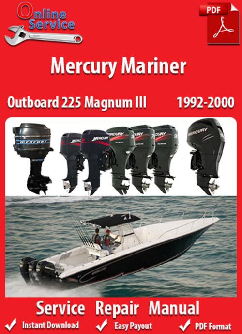 Free Mercury Mariner 225 Magnum III 1992-2000 Service Manual Download thumbnail