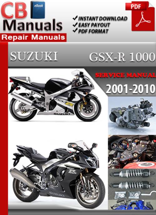 Pay for Suzuki GSX R 1000 2001-2010 Online Service Repair Manual
