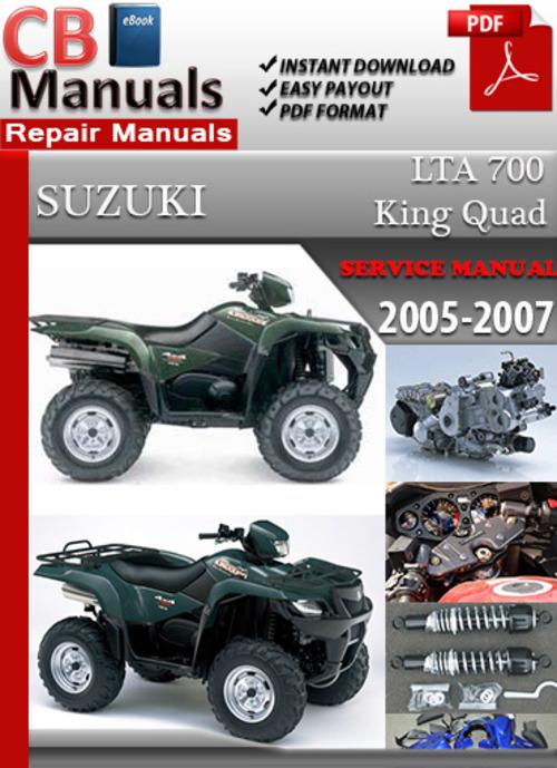 Suzuki Lta 700 King Quad 2005 2007 Online Service Manual Tradebit