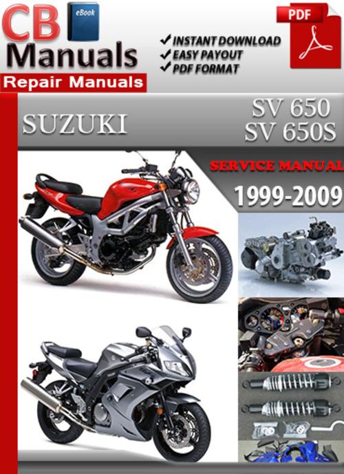 suzuki sv 650 1999 2009 online service repair manual download man rh tradebit com 2008 Suzuki SV 650 suzuki sv650s service manual free download
