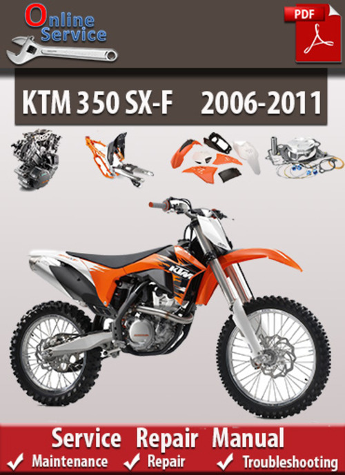 pay for ktm 350 sx-f 2006-2011 online service repair manual
