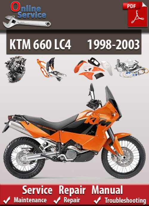 Pay for KTM 660 LC4 1998-2003 Online Service Repair Manual