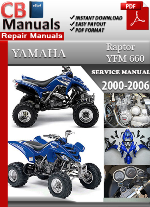 Yamaha yfm 660 raptor 2000 2006 online service repair for 2006 yamaha raptor 660