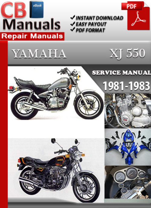 yamaha xj 550 1981 1983 online service repair manual download man rh tradebit com 81 Yamaha Seca 550 yamaha xj 550 repair manual
